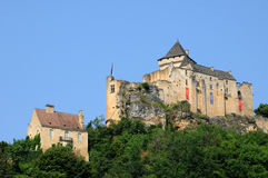 Picturesque castle of Castelnaud in Dordogne Royalty Free Stock Photos