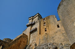 Picturesque castle of Castelnaud in Dordogne Stock Images