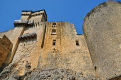 Picturesque castle of Castelnaud in Dordogne Royalty Free Stock Photo