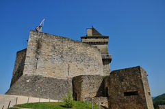 Picturesque castle of Castelnaud in Dordogne Royalty Free Stock Images