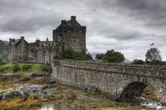 The picturesque Castle of Eilean Donan in Scotland Royalty Free Stock Photo