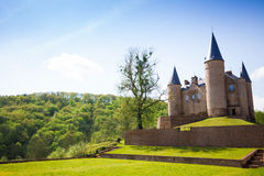Picturesque Castle of Veves view during sunny day stock photography