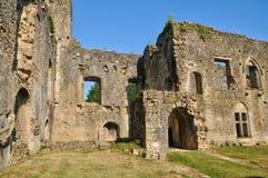 Picturesque castle of Villandraut in Gironde Stock Photos