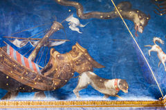 Picturesque ceiling in Ducal Palace Museum Mantua Stock Image