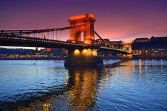 Picturesque Chain Bridge Budapest Stock Photography