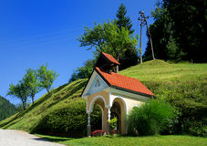 Picturesque chapel in Slovenia Stock Photography