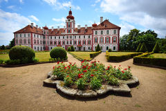 Picturesque chateau with beautiful garden Royalty Free Stock Photos