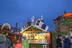 Picturesque Christmas fairground Royalty Free Stock Photo