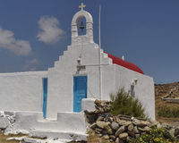 Picturesque church, Mikonos island Stock Photos
