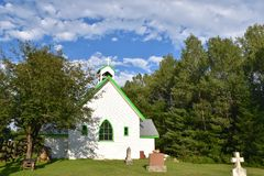 Picturesque Church in Rural Ontario, Canada. Essonville Historic Church was established in 1888 and was named One of the 8 Wonders of Haliburton County. This royalty free stock images