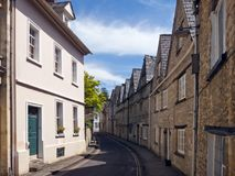 Picturesque Cirencester`s quaint old streets stock photos