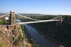 Picturesque City of Bristol - historic Clifton Suspension Bridge stock photos