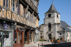 Picturesque city of Gaillon in Normandie Royalty Free Stock Photo