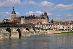 Picturesque city of Gien in Loiret. France, the picturesque city of Gien in Loiret Royalty Free Stock Images