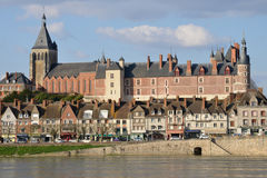 Picturesque city of Gien in Loiret Royalty Free Stock Photo