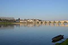 Picturesque city of Gien in Loiret Royalty Free Stock Image