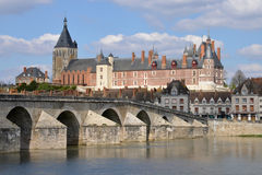 Picturesque city of Gien in Loiret Royalty Free Stock Photos
