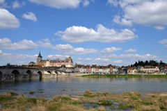 Picturesque city of Gien in Loiret. France, the picturesque city of Gien in Loiret Stock Photos