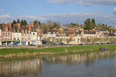 Picturesque city of Gien in Loiret. France, the picturesque city of Gien in Loiret Stock Images