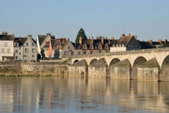 Picturesque city of Gien in Loiret Stock Photos