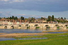 Picturesque city of Gien in Loiret Stock Image