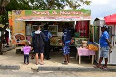 Picturesque city of Grand Bay in Mauritius Republic Stock Photo