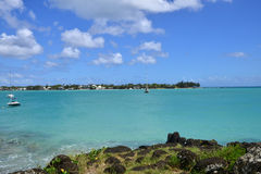 Picturesque city of Grand Bay in Mauritius Republic Stock Images