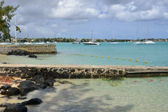 Picturesque city of Grand Bay in Mauritius Republic Royalty Free Stock Photography