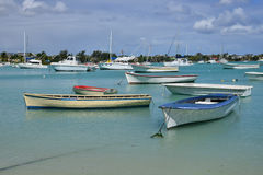 Picturesque city of Grand Bay in Mauritius Republic Stock Photography