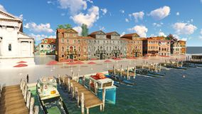 Free Picturesque City In Italy 3d Rendering Stock Images - 96980104