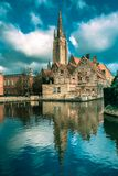 The picturesque city landscape in Bruges, Belgium Royalty Free Stock Photo