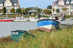 Picturesque city of Le Crotoy in Somme Stock Image