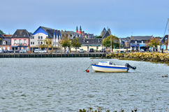 Picturesque city of Le Crotoy in Somme Royalty Free Stock Photography