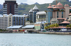 Picturesque city of Port Louis in Mauritius Republic Royalty Free Stock Images