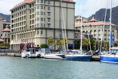 Picturesque city of Port Louis in Mauritius Republic Stock Image