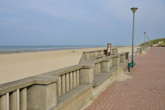 Picturesque city of Stella Plage in  Nord Pas de Calais Stock Photography
