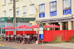 Picturesque city of Stella Plage in  Nord Pas de Calais Royalty Free Stock Image