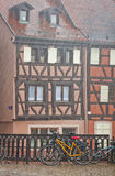 Picturesque city view during the rain. Colmar, France Royalty Free Stock Photography