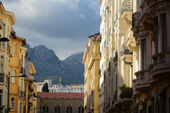Picturesque cityscape of menton Royalty Free Stock Images