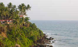 Picturesque cliff above the sea. Picturesque cliff over the Arabian Sea Stock Photography