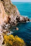 Thermal Spring of Sorgeto, Ischia, Italy. Picturesque cliff view near Thermal Spring of Sorgeto Bay, Ischia Island, Italy Royalty Free Stock Image