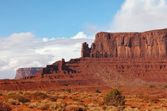Picturesque cliffs of sandstone. Picturesque cliffs of red sandstone in the Navajo reservation Royalty Free Stock Photos