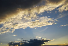 Picturesque clouds royalty free stock photo