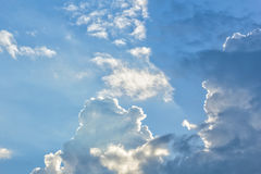 Picturesque clouds in the evening sky Stock Images