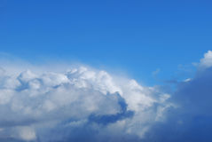 Picturesque clouds are in sky. Relief picturesque clouds are in blue sky Royalty Free Stock Images