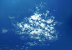 Picturesque clouds are in sky Royalty Free Stock Photography