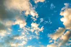 Picturesque clouds on a turquoise sky Royalty Free Stock Photography
