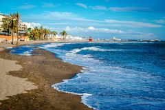 Picturesque coast in Benalmadena town Royalty Free Stock Image
