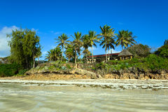Picturesque coast Diani Royalty Free Stock Photo