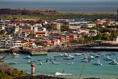 Picturesque coastland in San Cristobal island stock images